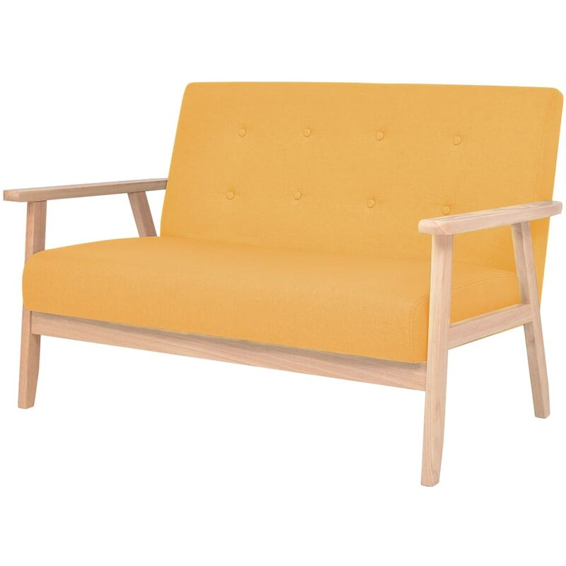 2-Sitzer Sofa Stoff Gelb - ZQYRLAR