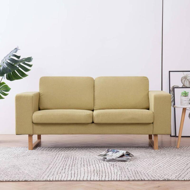 2-Sitzer-Sofa Stoff Grün - ZQYRLAR