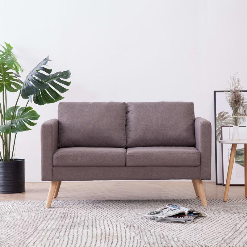 2-Sitzer-Sofa Stoff Taupe - ZQYRLAR