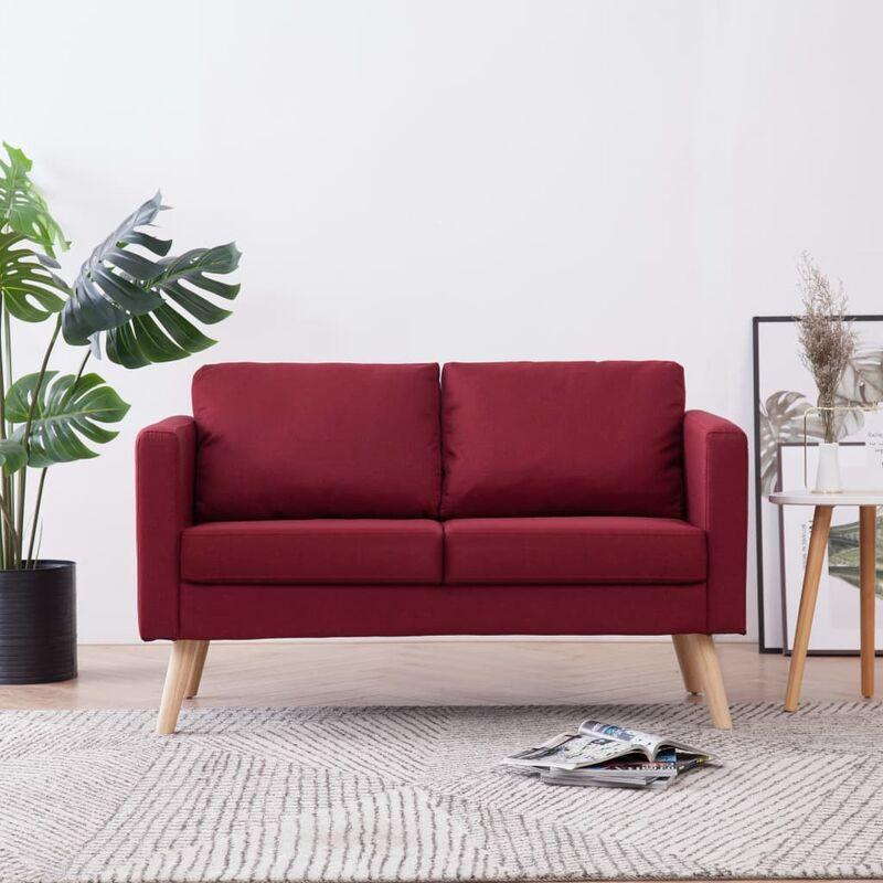 2-Sitzer-Sofa Stoff Weinrot - ZQYRLAR
