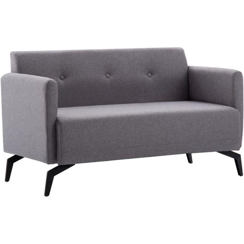 2-Sitzer-Sofa Stoffbezug 115x60x67cm Hellgrau