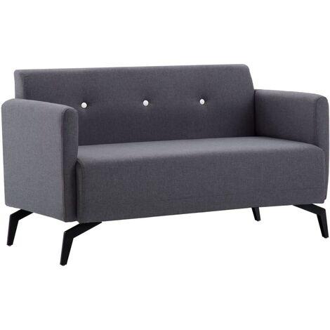 2-Sitzer-Sofa Stoffbezug 115x60x67cm Dunkelgrau