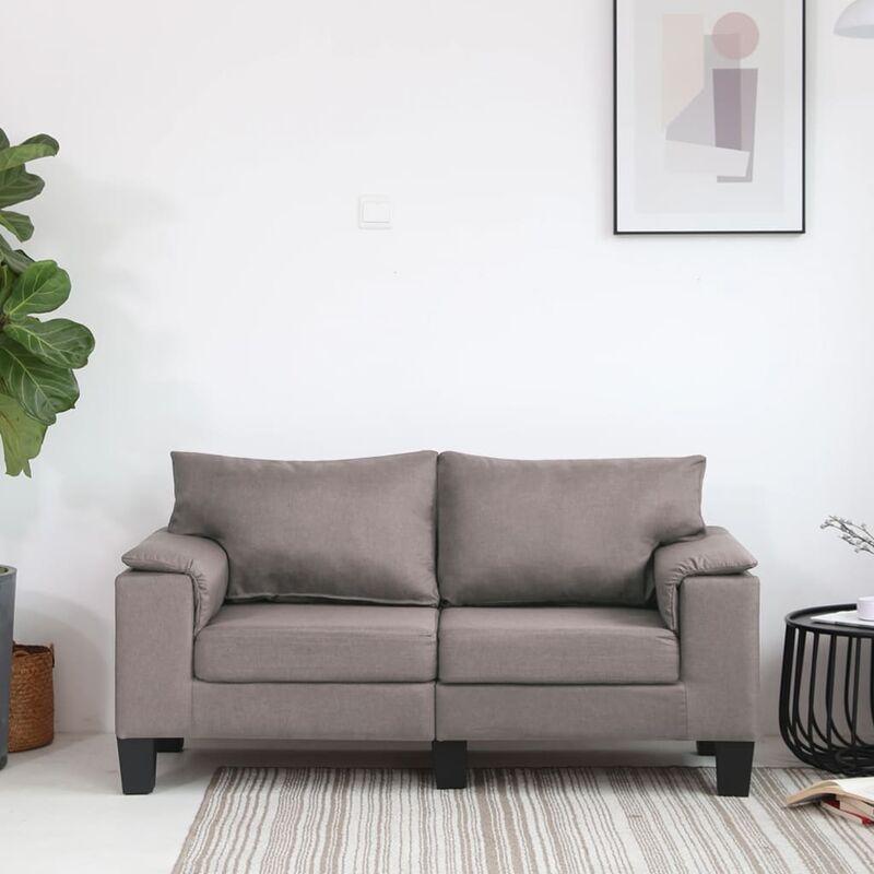 2-Sitzer-Sofa Taupe Stoff - ZQYRLAR