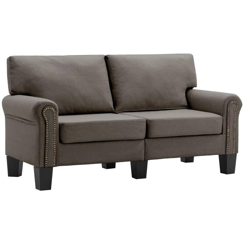 2-Sitzer-Sofa Taupe Stoff - VIDAXL
