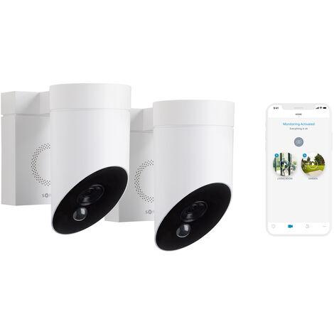 2 Somfy Outdoor Camera blanches, caméras extérieures sans fil - 1870471 - Blanc