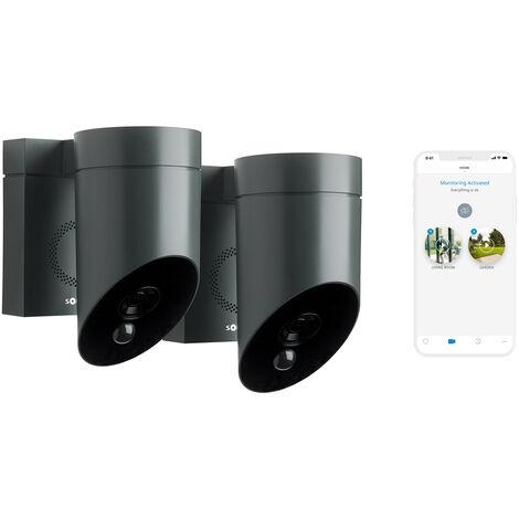2 Somfy Outdoor Camera grises, caméras extérieures - 1870472 - Gris