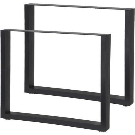 2 Stahl Tischbeine Tischgestell Kufengestell Tischuntergestell V2aox