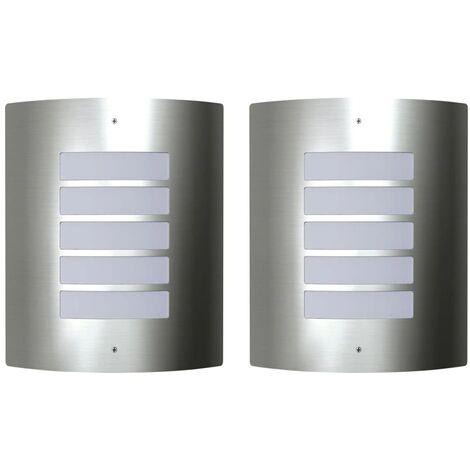 2 Stainless Steel Waterproof Wall Lights 60W