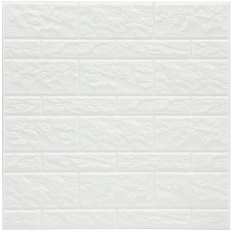 2 Stickers carrelage Mur - Blanc - Blanc