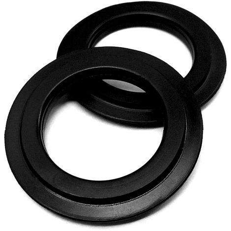 2 Stk. Universal-Lippendichtung 43 mm Durchmesser für Stopfenventil und Siebkörbchen - Ersatzteil: Dichtungsring Dichtung Abfluss-Ventildichtung