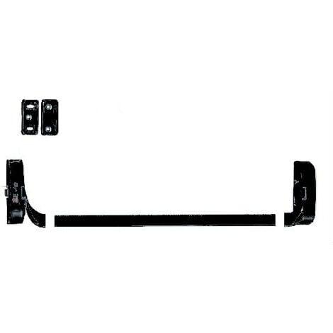 2 Supports IDEA barre + 1 mécanisme H/B + 1 gache et cales d'épaisseur ISEO - Noir - Non coupe feu - 9414000505
