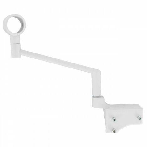 2 supports sans perçage tringle à rideau ø 20mm IB+ Coloris - Blanc - Blanc