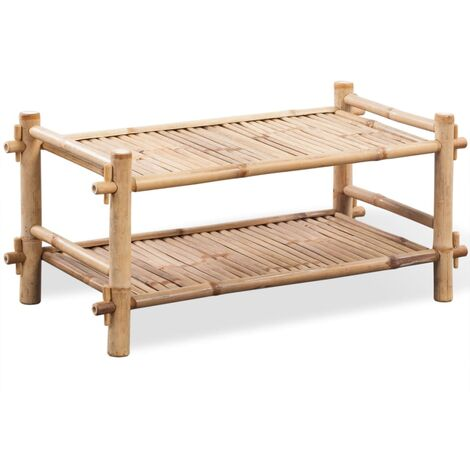 2-Tier Bamboo 6 Pair Shoe Rack by Bay Isle Home - Brown