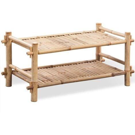 2-Tier Bamboo Shoe Rack