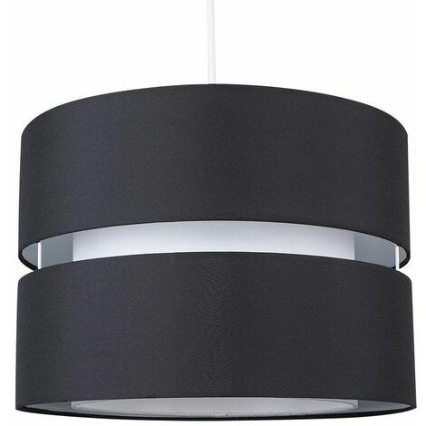 2 Tier & Ceiling Pendant Light Shade - Cream & White