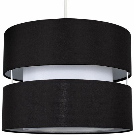 2 Tier Ceiling Pendant Light Shade - Red