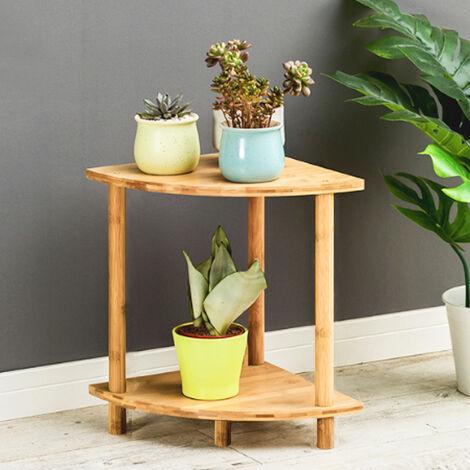 2 Tier Corner Plant Stand Flower Pot Display Storage