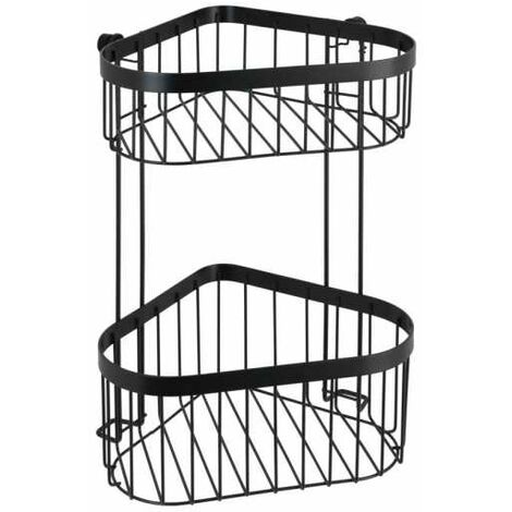2-tier corner rack Classic Plus black WENKO