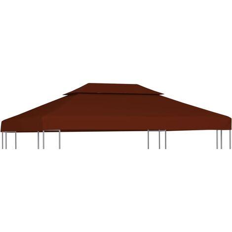 2-Tier Gazebo Top Cover 310 g/m² 4x3 m Terracotta