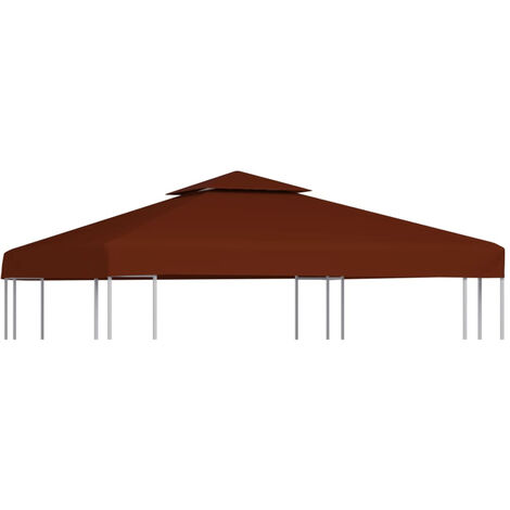 2-Tier Gazebo Top Cover 310 g/m2 3x3 m Terracotta
