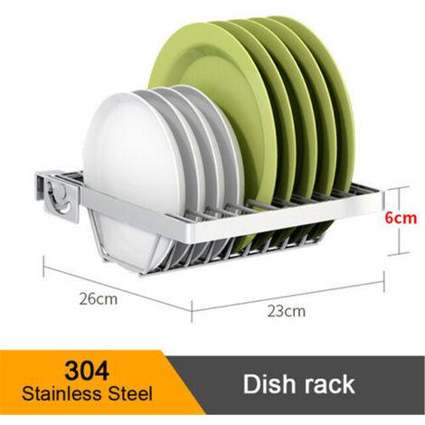 2 Tier Stainless Steel Tableware Drying Rack On Sink