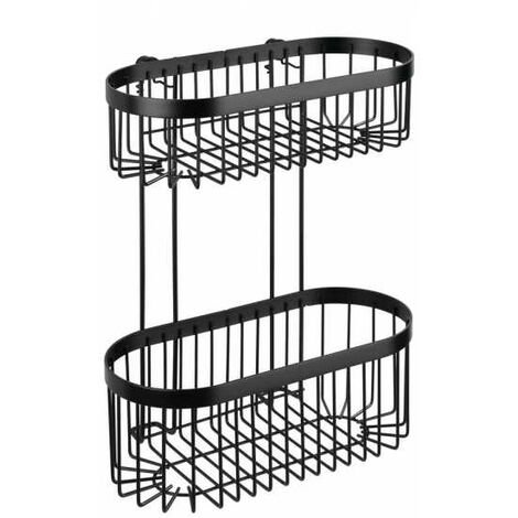 2-tier wall rack Classic Plus black WENKO