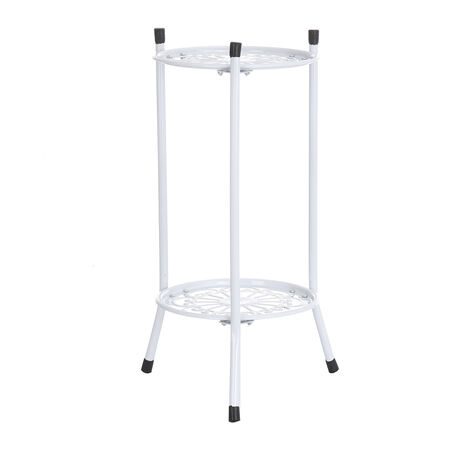 2 Tiers Flower Holder Plant Pot Stand Shelf Display