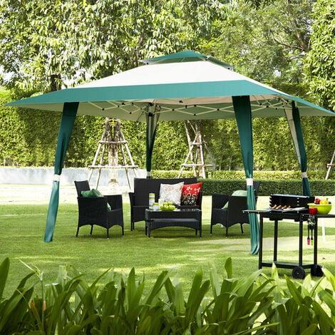 2-tiers Garden Gazebo Marquee Canopy Sun Shelter Wedding Party Tent Green