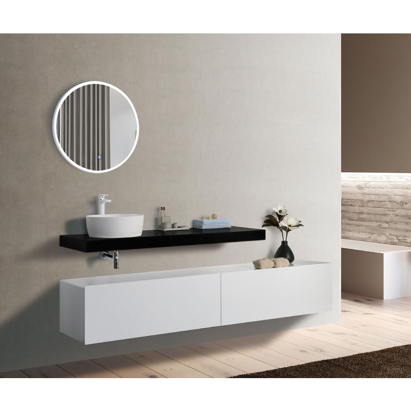 2-tlg. Badmöbel Unterschrank GANZO 220 ohne Waschtisch - IMPEX-BAD