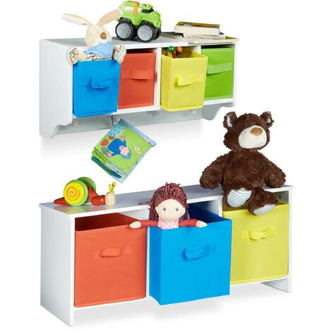 2 Tlg Kindermöbel Set Albus Wandregal Für Kinder Sitzbank