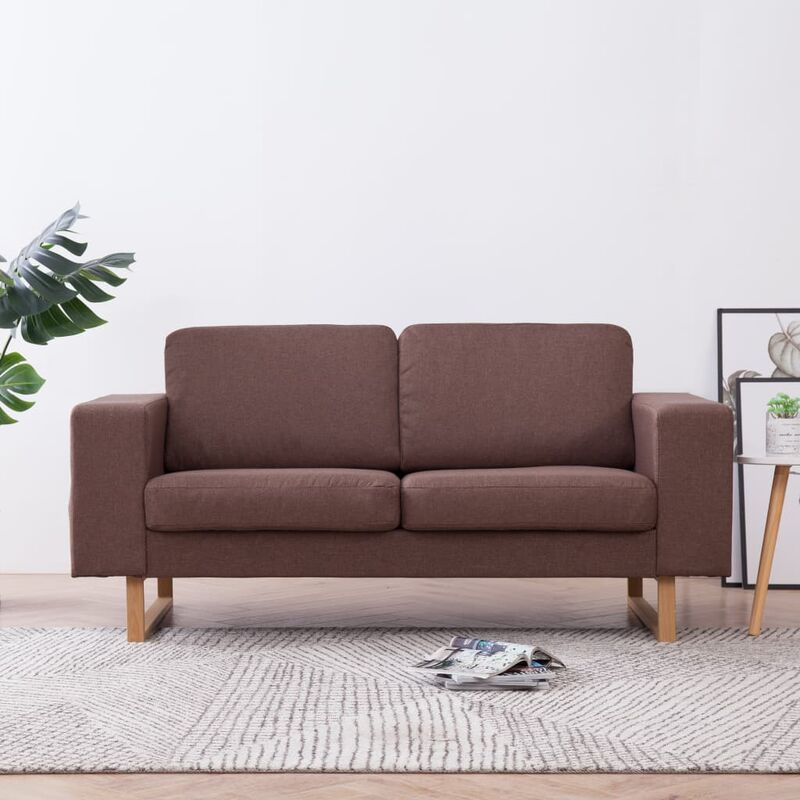 Sofa 2-Sitzer Braun