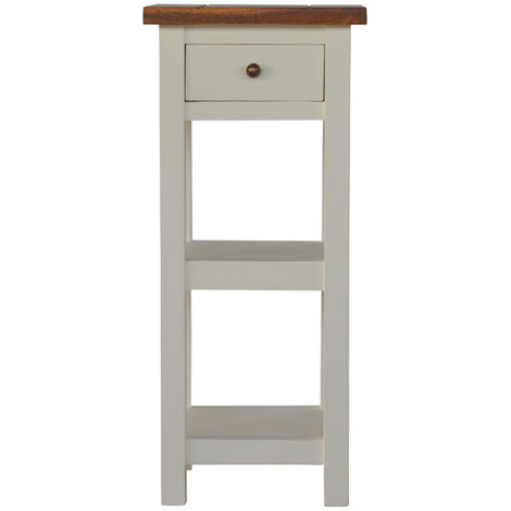 2 Toned Lamp or Telephone Table with 1 Drawer & 2 Shelves