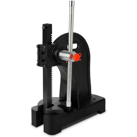 2 Tonne Arbor Press (2000 kg Pressing Force, 190 mm Workpiece, Hand Lever, 4-way Baseplate)