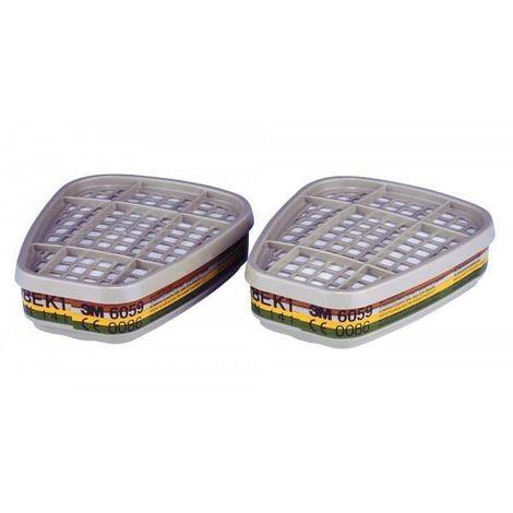 2 UD Filtro 3M 6059 Categoría ABEK1