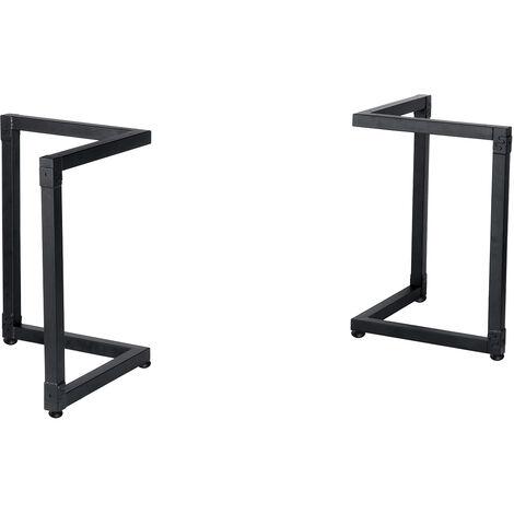 2 uds 70CM patas de acero para mesa de centro, patas de soporte de banco industrial, patas de escritorio de ordenador, patas de escritorio de cocina y comedor