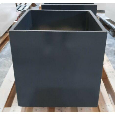 2 unités Jardinière carré lisse Sandor 40x40x40cm. Pour un usage intérieur et extérieur. Diverses couleurs disponibles.