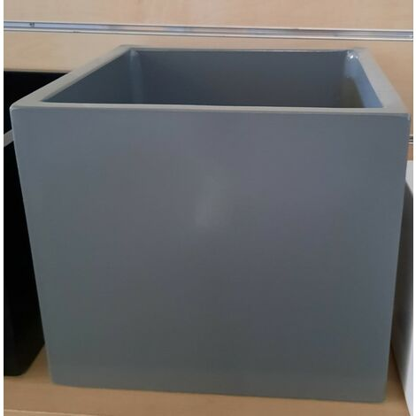 2 unités Jardinière rectangle lisse haut TALISA 90x30x80cm. En béton-pierre pour l'extérieur et l'intérieur. Noir