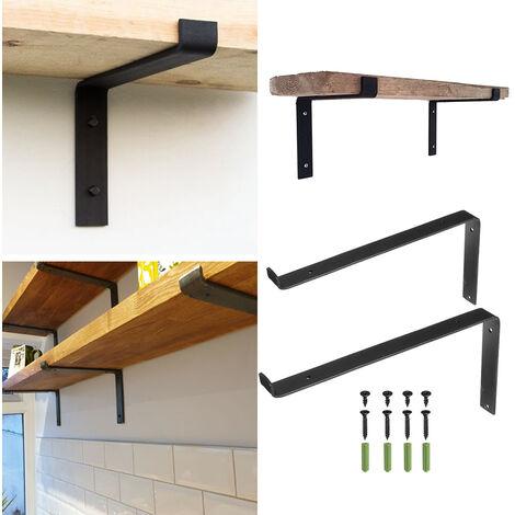 2 Wall Shelf Brackets Floating Heavy Duty Corner Brace Bracket Metal Steel Stand