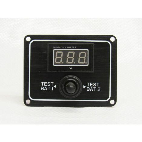 "main image of ""2 Way Digital Battery Test Switch 12V (Rocker Boat Gauge IP65 Water Resistant)"""
