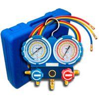 2-Wege Klimaanlage R32, R410a, R407c, R134a Set 2 Füllschläuche Manometer VALUE