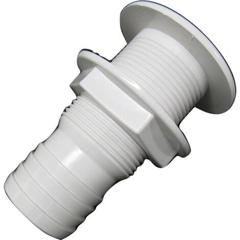 "main image of ""2"" White Plastic Drain Socket For Boats - 50MM Screw Marine Chandlery"""