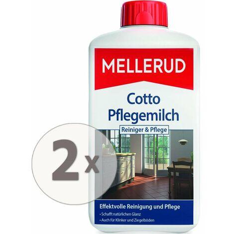 2 x 1 Liter Mellerud Cotto Pflegemilch Terracotta-Tonplatten-Pflege