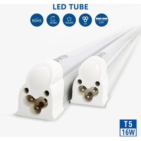 2 x 120cm 16W Natural White (4500K) 2835 120 LEDs 1800LM T5 LED Tube Light