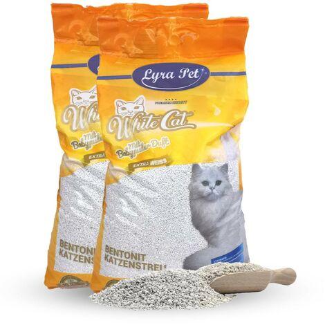 2 x 15 L White Cat Katzenstreu mit Babypuderduft
