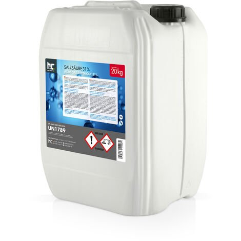 2 x 20 kg 20 Kg acide chlorhydrique