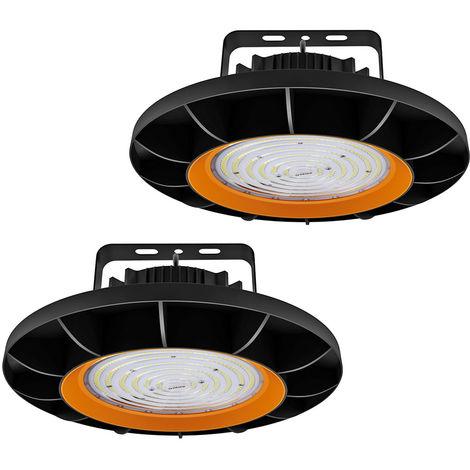 2 x 200W UFO LED High Bay Light 26000LM SMD2835 White LED Warehouse Lighting IP65 Commercial Bay Lighting