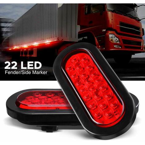2 x 22LED Truck Truck Rear Brake Light Indicator Lights Waterproof 12V Lamp