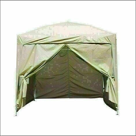 2 x 2m Garden Pop Up Gazebo Marquee Patio Canopy Wedding Party Tent- Beige