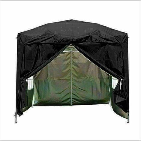 2 x 2m Garden Pop Up Gazebo Marquee Patio Canopy Wedding Party Tent- Black