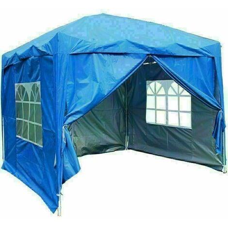 2 x 2m Garden Pop Up Gazebo Marquee Patio Canopy Wedding Party Tent- Blue